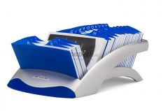 Clasor pentru carti vizita liniar argintiu, Visifix Desk 241323 Durable