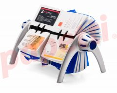 Clasor pentru carti vizita rotativ argintiu, Visifix Flip Duo 244323 Durable
