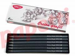 Creion grafit fara lemn, 4B, 6 buc/cutie, Daco