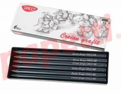 Creion grafit fara lemn, 6B, 12 buc/cutie, Daco
