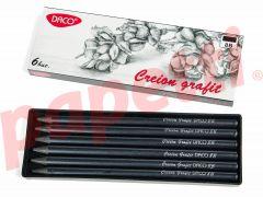 Creion grafit fara lemn, 8B, 12 buc/cutie, Daco