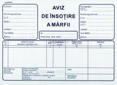 Aviz de insotire a marfii A5, 3 exemplare