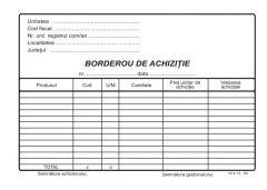 Borderou achizitie A5