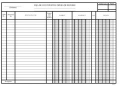 Fisa cont analitic-operatiuni diverse, carton A4