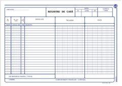 Registru de casa orizontal, autocopiativ, A4