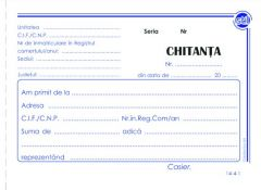 Chitantier 3 exemplare A6