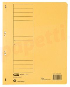 Dosar de incopciat cu capse 1/1, carton galben, Elba