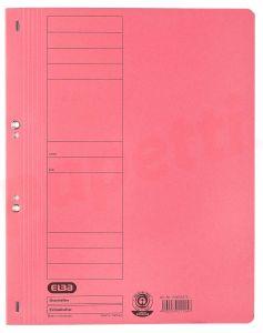 Dosar de incopciat cu capse 1/1, carton rosu, Elba