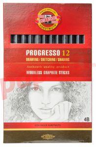 Creion grafit fara lemn, 4B, 12buc/cutie, Koh-I-Noor