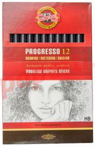Creion grafit fara lemn, HB, 12buc/cutie, Koh-I-Noor