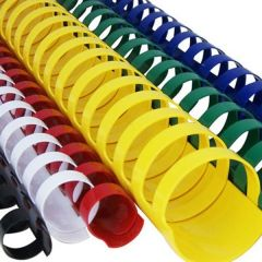 Inele din plastic, 45mm, verde, pentru indosariere