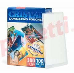 Folie de laminator, 65mmx95mm, 125 microni, Cristal