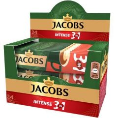 Cafea Jacobs 3 in 1 Intense, 24 bucati x15g