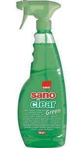 Detergent cu pulverizator ptr. geamuri, oglinzi, obiecte din ceramica, portelan, 1L, Clear Green San