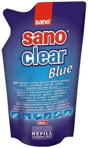 Rezerva detergent geamuri, oglinzi, obiecte din ceramica, portelan, 750ml, Clear Blue Sano