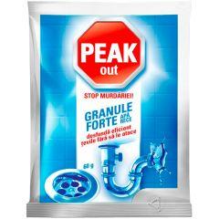 Granule pentru desfundat tevi, apa rece, 60g, Peak Out