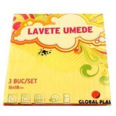 Lavete umede, 16x18cm, 3buc/set, Global