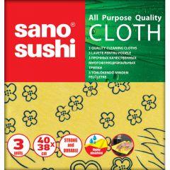 Lavete universale, 38x40cm, 3buc/set, Sushi Cloth Sano