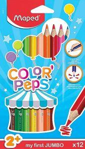 Creioane colorate 12culori/set, Color Peps My First Jumbo Maped