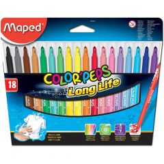 Carioca 18 culori/set Color Peps Long Life Maped