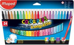 Carioca 24 culori/set Color Peps Long Life Maped