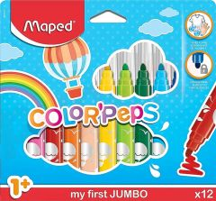 Carioca 12 culori/set Color Peps My First Jumbo Maped
