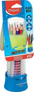 Creioane colorate 12culori/set, Color Peps Flex Box Maped