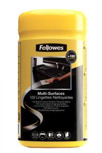 Servetele curatare suprafete din plastic, umede, 100buc/set, Fellowes