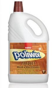 Detergent cu ceara pentru suprafete din lemn si alte suprafete delicate, 1L, Poliwix Parquet Sano