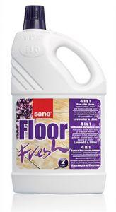 Detergent concentrat, pentru orice tip de pardoseli, 2L, Floor Fresh Liliac Sano