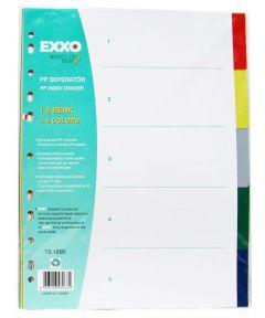 Separatoare plastic color 5/A4, Exxo