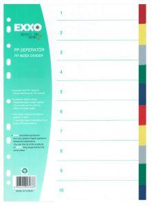 Separatoare plastic color 10/A4, Exxo