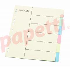 Separatoare carton color 6/A4, Optima
