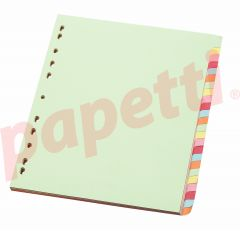 Separatoare carton color 24/A4, Optima