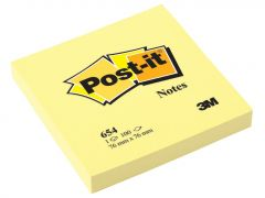 Notes autoadeziv 76mm x 76mm, 100 file/buc, galben pal, Post-it 3M