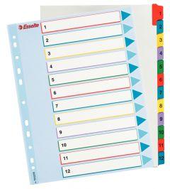 Separatoare carton reinscriptibil 1-12/A4 Esselte
