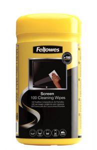 Servetele curatare monitor, umede, 100buc/set, Fellowes