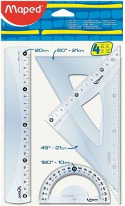 Set geometrie 4 piese Essentials Maped