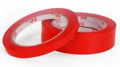 Banda adeziva pentru sigilarea pungilor, rosie 9mm x 66m
