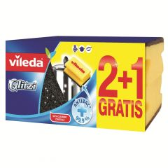 Bureti cu canelura, 3buc/set, Vileda Glitzi 2+1