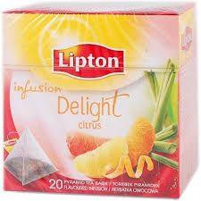 Ceai infuzie din mix de citrice, 20plicuri/cutie, Lipton Delight Citrus