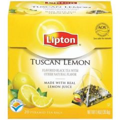 Ceai negru aroma de lamaie, 20plicuri/cutie, Lipton Tuscan Lemon Pyramid