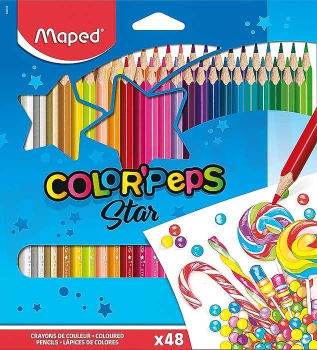 Creioane colorate 48culori/set, Color Peps Maped