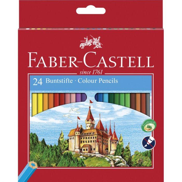Creioane colorate 24culori/set, Eco Faber Castell-FC120124