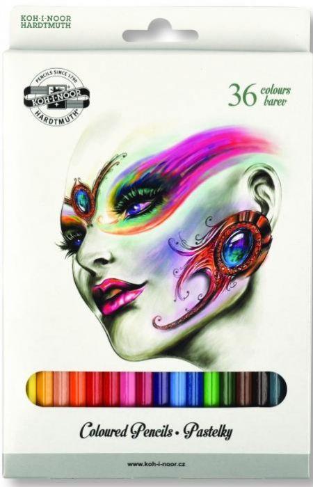 Creioane colorate 36culori/set, Fantasy Koh-I-Noor