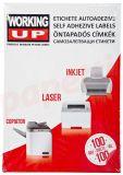 Etichete autoadezive albe 40/A4, 52,5x29,7mm, 100coli/cutie, WorkingUp
