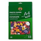 Hartie photo ink jet, mat, A4, 120g, 50 coli/top, Koh-I-Nor