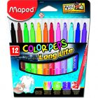 Carioca 12 culori/set Color Peps Long Life Maped