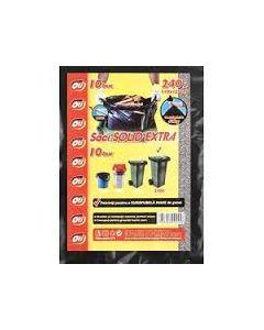 Saci menajeri negri, grosi, 240L, 110x125cm, 10buc/pachet, Solid Extra