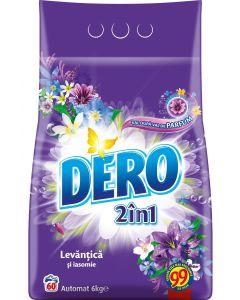 Detergent pudra pentru tesaturi, automat, 6kg, 2in1 Levantica si Iasomie Dero